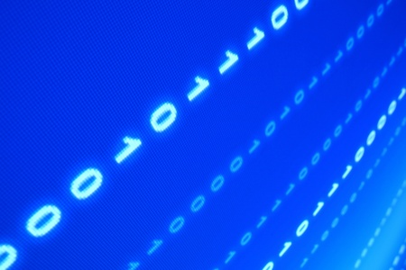 blue data space one zero blured in motion  photo