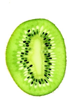 extreme macro: green kiwi slice macro close up