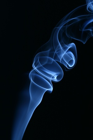 blue smoke on black background Stock Photo - 10169863