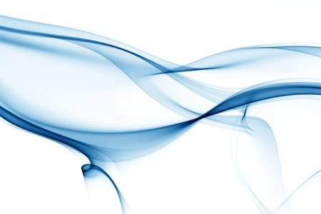 air flow: fumo su sfondo bianco blu