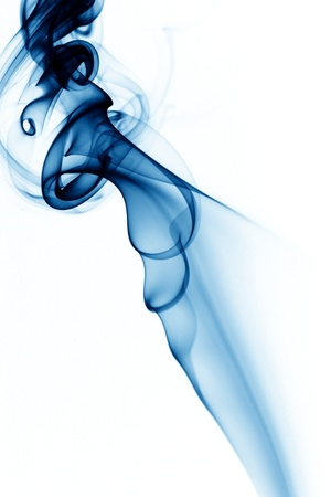 blue smoke on white background close up photo