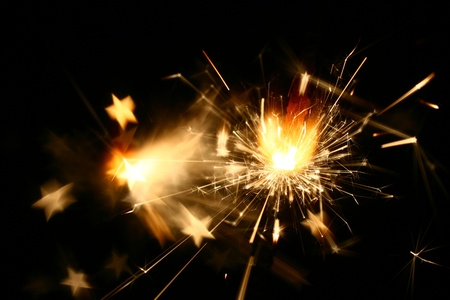 sparkler fire macro background close up Stock Photo - 10171085