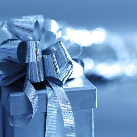 natal: blue christmas card  macro close up