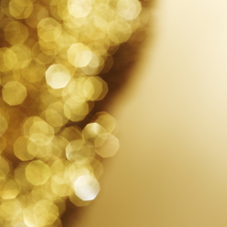 beauty spot: golden bokeh background close up Stock Photo