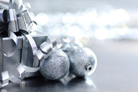 argent cadeau de Noël macro close up