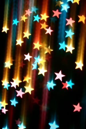 abstract disco  colored stars motion background Stock Photo - 10264562
