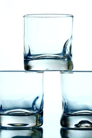 foot ware: glass background macro close up Stock Photo