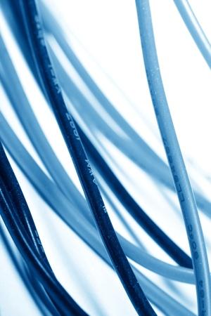 multicore: wire background macro close up