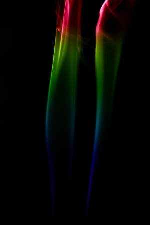 abstract mystical multi colored smoke  photo