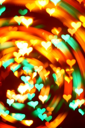 abstract love: motion colored  heart abstract love background