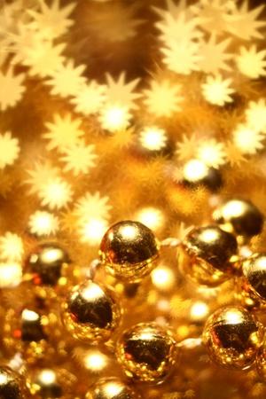 festive occasions: decoraci�n de tarjeta dorada de vacaciones