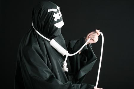 pantomima: con la soga en el cuello de MIME