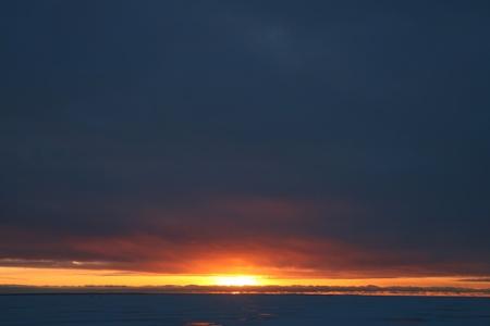 skie: sunrise in the dark sky heaven