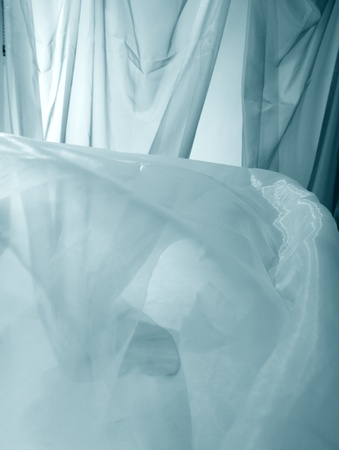 bridal veil: fabric abstract material background light  Stock Photo