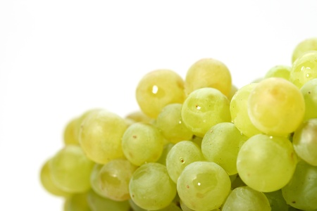fruitful: green grape isolated on white background Stock Photo