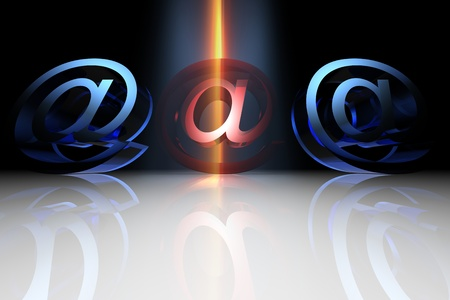 detected: danger email virus detected mail concept
