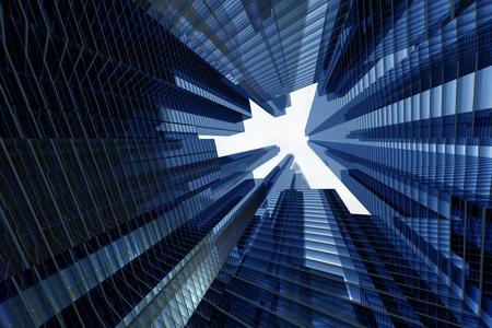 grattacieli 3d nel concetto di business cielo Archivio Fotografico - 10362895