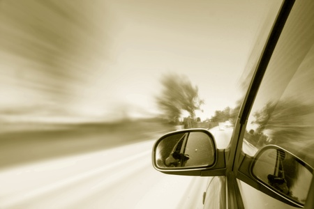 rear view mirror: speed drive blurred transportation background