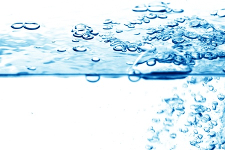 blue water bubbles clean background photo