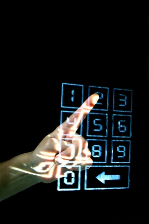 enter secret code on numpad security control Stock Photo - 10376002