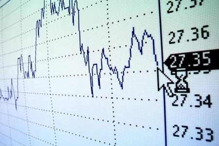 stock certificate: el gr�fico de crecimiento de la inversi�n financiera Foto de archivo