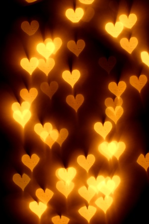bokeh hearts background abstract macro photo
