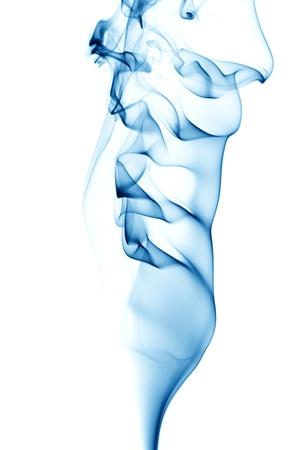 blue smoke on white background photo