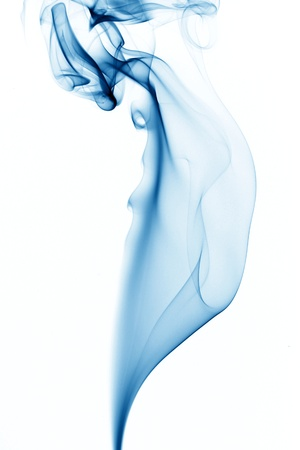 blue smoke on white background Stock Photo - 10376057