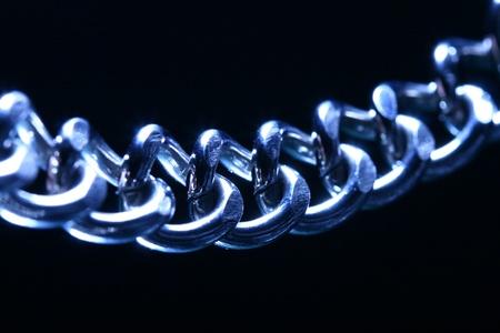 robust: steel chain macro close up Stock Photo