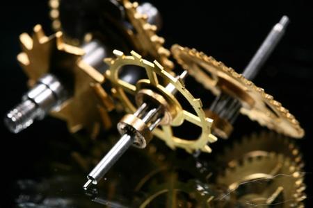 macro mechanical gear background close up Stock Photo - 10376114