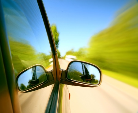 speed drive blurred transportation background Stock Photo - 10433315