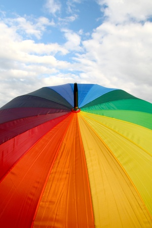 umbrella on sky weather colorful background photo