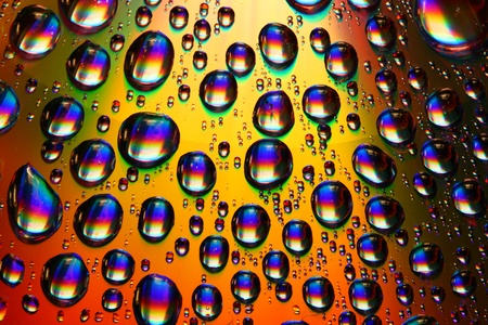 clean multicolored waterdrops macro background photo