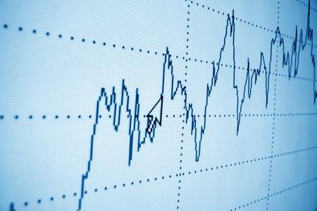 letra de cambio: el gr�fico de crecimiento de la inversi�n financiera Foto de archivo