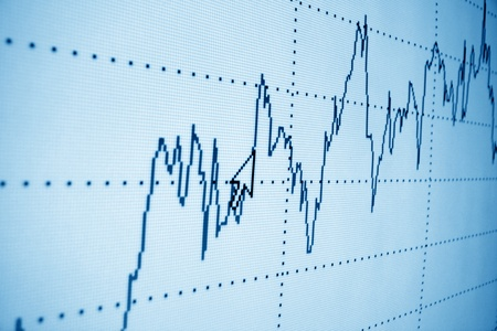 financial graph: financial graph of investment growth