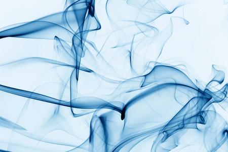 blue smoke on black background Stock Photo - 10433985