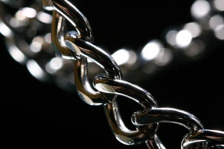 steel chain macro close up Stock Photo