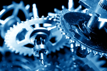 macro mechanical gear background close up photo