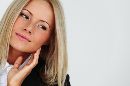 business woman portrait isolated close up Stock Photo - 10435613