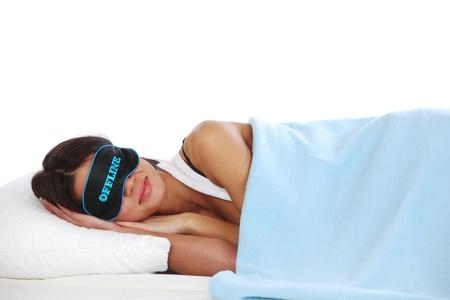 offline beauty woman sleep on the pillow Stock Photo - 10435561