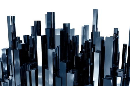 architecture model: abstract  3d skyscrapers business office
