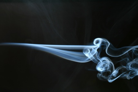 fragrance: abstract smoke  in air stop motion