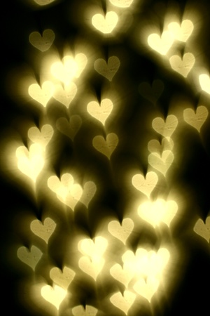 bokeh hearts background abstract macro photo