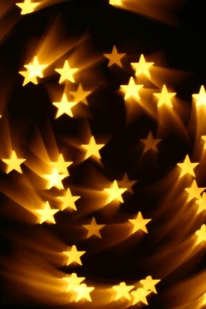 bokeh stars  background abstract macro Stock Photo - 10469557