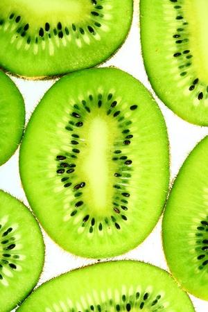 green kiwi slice macro close up photo
