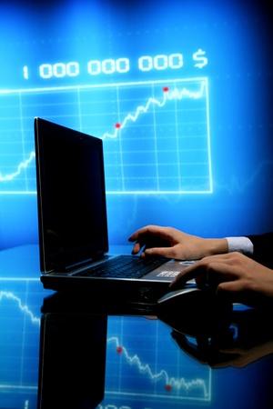 laptop finance work close up Stock Photo - 10469603