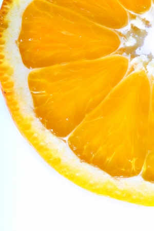 orange cut: orange slice macro close up