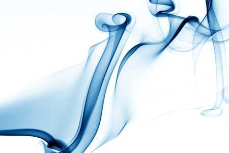 blue smoke on white background Stock Photo - 10469575