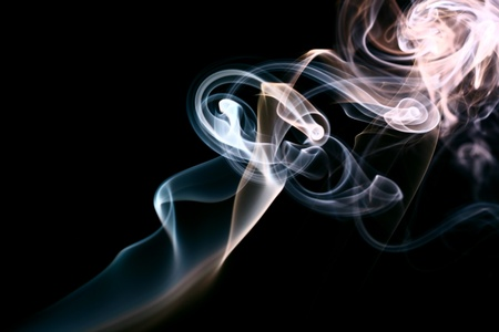 smoke abstract background macro close up Stock Photo - 10469533