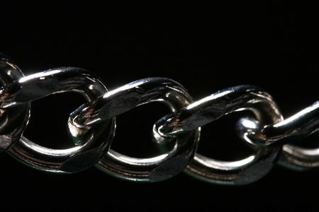 steel chain macro close up Stock Photo - 10469652